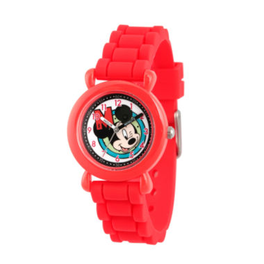 jcpenney.com | Disney Mickey Mouse Boys Red Strap Watch-Wds000144