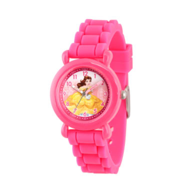 jcpenney.com | Disney Beauty and the Beast Girls Pink Strap Watch-Wds000146