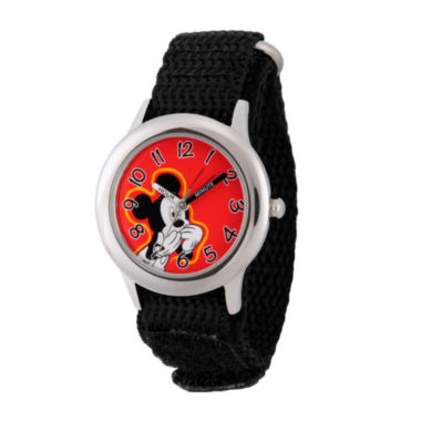 jcpenney.com | Disney Mickey Mouse Boys Black Strap Watch-Wds000155