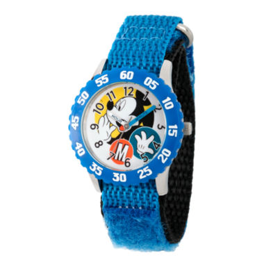 jcpenney.com | Disney Mickey Mouse Boys Blue Strap Watch-Wds000156