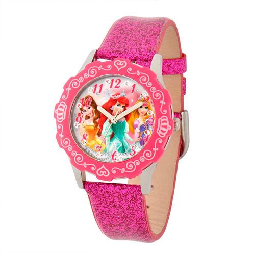 Disney Disney Princess Girls Pink Strap Watch-W001597