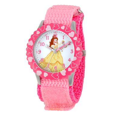 jcpenney.com | Disney Beauty and the Beast Girls Pink Strap Watch-W001921