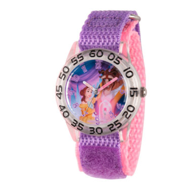 jcpenney.com | Disney Time Teacher Beauty and the Beast Girls Purple Strap Watch-W002929
