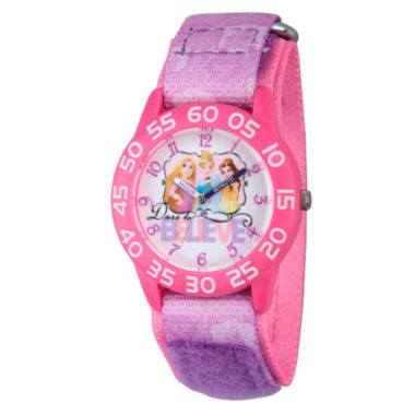 jcpenney.com | Disney Time Teacher Disney Princess Girls Purple Strap Watch-W002947