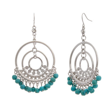 jcpenney.com | EL by Erica Lyons Silver Over Brass Drop Earrings
