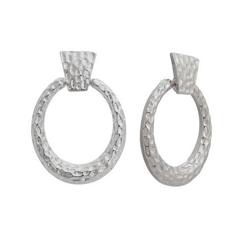 EL by Erica Lyons Silver Over Brass Drop Earrings