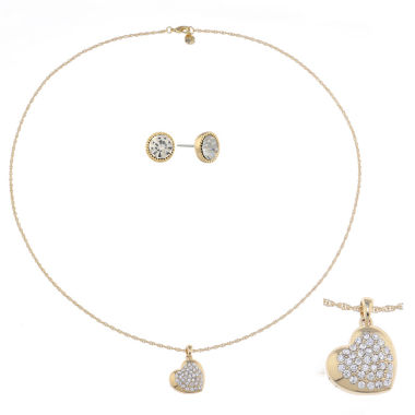 jcpenney.com | Monet Jewelry Womens 2-pc. Clear Jewelry Set