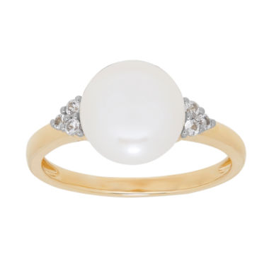 jcpenney.com | Womens White Pearl 14K Gold Cocktail Ring