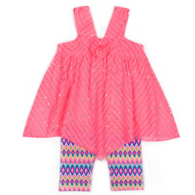 jcpenney.com | Little Lass 2-pc. Legging Set-Toddler Girls