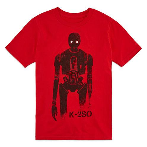 Short Sleeve Star Wars T-Shirt-Big Kid Boys