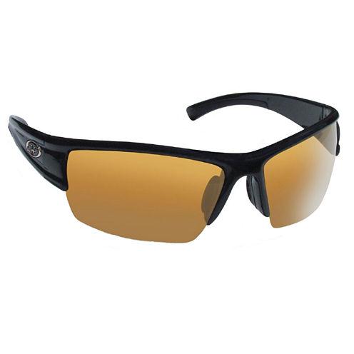 Flying Fisherman Edge Matte Blk Frame Amber Lens Sunglasses
