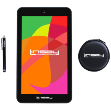 "jcpenney.com | LINSAY® 7"" Quad Core 1280x800 IPS Screen 8GB DUAL CAM Tablet with Earphones and Pen"