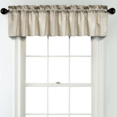 jcpenney.com | JCPenney Home Linen Rod Pocket Poly-Cotton Lined Tailored Valance