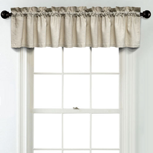 JCPenney Home Linen Rod Pocket Poly-Cotton Lined Tailored Valance