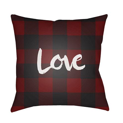 Decor 140 Plaid Love Square Throw Pillow