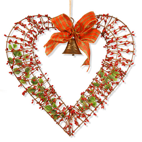 "National Tree Co. 16"" Valentine Heart Wreath"