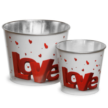 jcpenney.com | National Tree Co. Valentine Tin 2-pc. Decorative Bowl