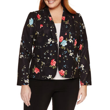 jcpenney.com | Worthington® Long Sleeve Open Front Blazer - Plus
