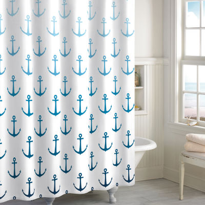 Destinations Ombre Anchor Shower Curtain - JCPenney