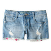 Total Girl® Destructed Cutoff Shorts - Girls 6-16 and Plus