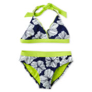 Breaking Waves 2-pc. Poppy Swimsuit - Girls 6-16