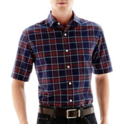 Claiborne® Short-Sleeve Button-Front Shirt