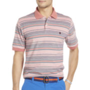 IZOD® Short-Sleeve Multi-Striped Polo Shirt