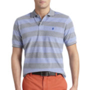 IZOD® Short-Sleeve Rugby-Striped Polo Shirt