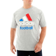 adidas® Adilogo Football Tee-Big & Tall