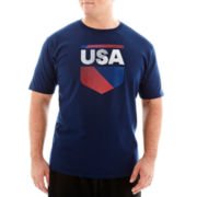 adidas® USA Geo Crest Tee-Big & Tall