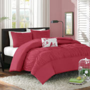Mizone Alyssa Ruched Duvet Cover Set