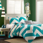 Mi Zone Aries Chevron Quilt Set