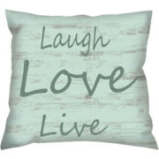 Live Love Laugh Decorative Pillow