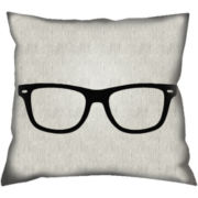 Geek Glasses Decorative Pillow