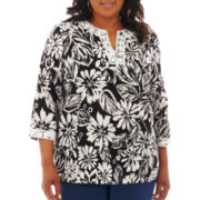 Alfred Dunner® Beekman Place Floral Print Tunic Top - Plus