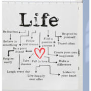 Life Chart Shower Curtain