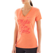 Nike® Just Do It V-Neck Dri-FIT Tee