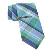 JF J. Ferrar® Mix-a-Lot Madras Slim Tie
