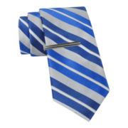 JF J. Ferrar® Boom Stripe Slim Tie