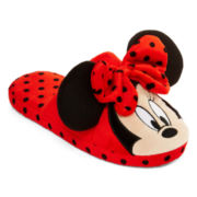 Minnie or Mickey Mouse Womens Slippers