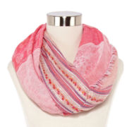 Sequin Slub Double Loop Scarf