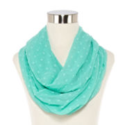 Solid Swiss Dot Infinity Scarf