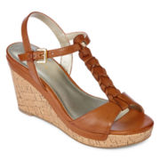 Liz Claiborne® Kay Braided Wedge Sandals