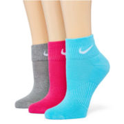 Nike® 3-pk. Quarter Socks