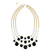 love struck™ Jet Black Stone Three-Row Necklace