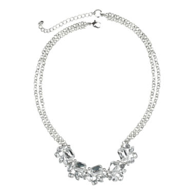 jcpenney.com | love struck™ Crystal Double-Chain Necklace