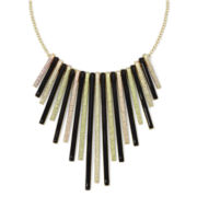 Arizona Iridescent Silver-Tone and Black Necklace