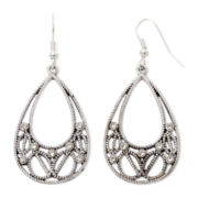 Arizona Crystal Open Teardrop Earrings