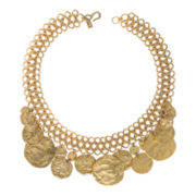 KJL by KENNETH JAY LANE 22K Gold-Plated Coin Drop Necklace