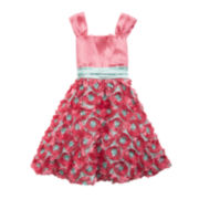 Rare Editions Sleeveless Floral Dress – Girls 7-16